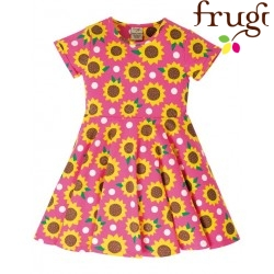 """frugi - Bio Kinder Jersey Kleid """"Spring"""" mit Sonnenblumen-Motiv"""
