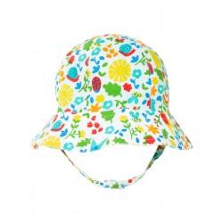 frugi - Bio Baby Wende Sonnenhut mit Punkten und Blumen