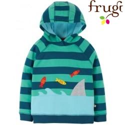 """frugi - Bio Kinder Sweatshirt """"Hedgerow"""" mit Hai-Motiv und Streifen"""