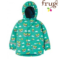 "frugi - Kinder Regenjacke ""Puddle Buster"" mit Enten-Allover"