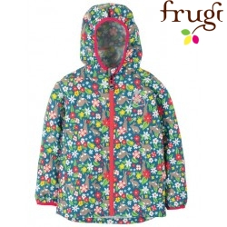 "frugi - Kinder Regenjacke ""Rain or Shine"" mit Hasen-Allover"