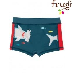 frugi - Kinder Badehose mit Hai-Motiv