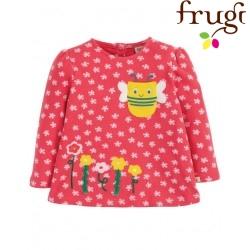 """frugi - Bio Baby Langarmshirt """"Connie"""" mit Bienen-Motiv und Blumen"""