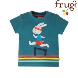 """frugi - Bio Baby T-Shirt """"Little Creature"""" mit Hasen-Motiv"""