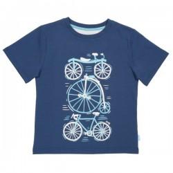 kite kids - Bio Kinder T-Shirt mit Fahrrad-Druck