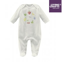 "LIVING CRAFTS - Bio Baby Strampler ""Happy Fruits"""