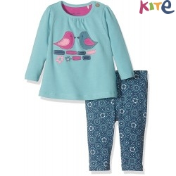 kite kids - Bio Baby Set Langarmshirt + Leggings mit Vogel-Motiv