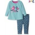 kite kids - Bio Baby Set Langarmshirt + Leggings mit Vogel-Motiv