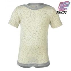 ENGEL - Bio Baby Body kurzarm mit Punkten, Wolle/Seide, natur