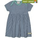 loud + proud - Bio Kinder Jersey Kleid mit Streifen, ultramarine