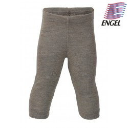 ENGEL - Bio Baby Leggings, Wolle/Seide, walnuss