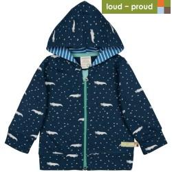 loud + proud - Bio Kinder Sweatjacke mit Krokodil-Allover
