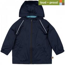 loud + proud - Bio Kinder Regenjacke, marine, wasserabweisend