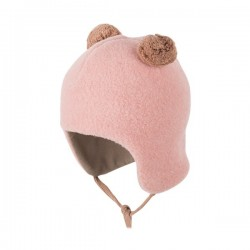 pure pure by BAUER - Bio Baby Fleece Bommelmütze, Wolle, rosa