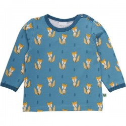 Fred`s World by Green Cotton - Bio Baby Langarmshirt mit Fuchs-Allover