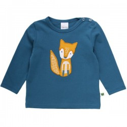 Fred`s World by Green Cotton - Bio Baby Langarmshirt mit Fuchs-Applikation