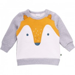 Fred`s World by Green Cotton - Bio Baby Sweatshirt mit Fuchs-Motiv