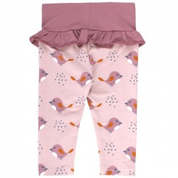 Fred`s World by Green Cotton - Bio Baby Leggings mit Vogel-Druck und Rüschen