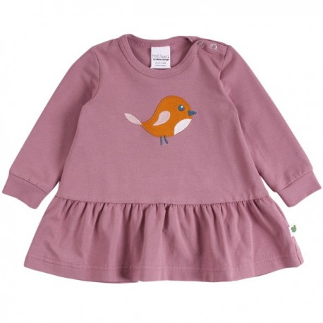 Fred`s World by Green Cotton - Bio Baby Sweatkleid mit Vogel-Applikation