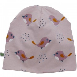 Fred`s World by Green Cotton - Bio Baby Beanie mit Vogel-Allover