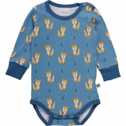 Fred`s World by Green Cotton - Bio Baby Body langarm mit Fuchs-Allover