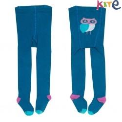 kite kids - Bio Kinder Strumpfhose mit Eulen-Druck