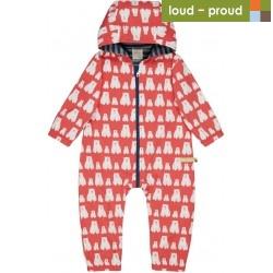 loud + proud - Bio Baby Overall mit Bären-Druck, wasserabweisend