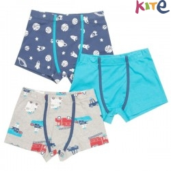 kite kids - Bio Kinder Hipshorts 3er Pack mit Space-Motiv