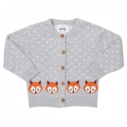kite kids - Bio Kinder Strickjacke mit Fuchs-Motiv