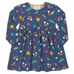 kite kids - Bio Kinder Kleid mit Regenbogen-Motiven