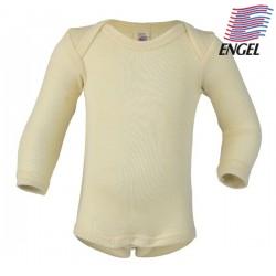 ENGEL - Bio Baby Body langarm, Wolle/Seide, natur