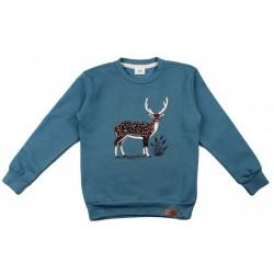 Walkiddy - Bio Kinder Sweatshirt mit Reh-Druck