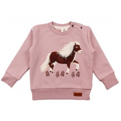 Walkiddy - Bio Kinder Sweatshirt mit Pony-Druck