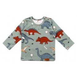 Walkiddy - Bio Kinder Langarmshirt mit Dinosaurier-Allover