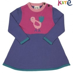kite kids - Bio Baby Strickkleid mit Vogel-Motiv