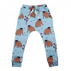 Walkiddy - Bio Kinder Sweathose mit Mammut-Allover
