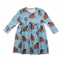 Walkiddy - Bio Kinder Kleid mit Mammut-Allover