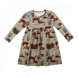 Walkiddy - Bio Kinder Kleid mit Reh-Allover
