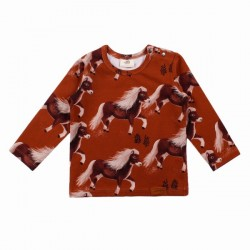 Walkiddy - Bio Kinder Langarmshirt mit Pony-Allover