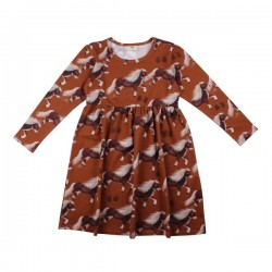 Walkiddy - Bio Kinder Kleid mit Pony-Allover