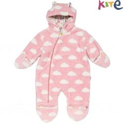 kite kids - Bio Baby Fleece Overall mit Wolken-Motiv