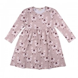 Walkiddy - Bio Kinder Kleid mit Lama-Allover