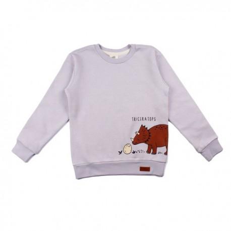 Walkiddy - Bio Kinder Sweatshirt mit Dinosaurier-Druck