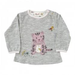 People Wear Organic - Bio Baby Langarmshirt mit Tiger-Applikation