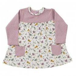 People Wear Organic - Bio Baby Kleid mit Tiger-Allover