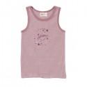 People Wear Organic - Bio Kinder Unterhemd mit Streifen und Weltraum-Druck, rosa
