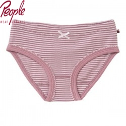 People Wear Organic - Bio Kinder Unterhose mit Streifen, rosa