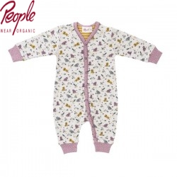 People Wear Organic - Bio Baby Strampler mit Tiger-Allover