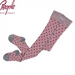 People Wear Organic - Bio Kinder Strumpfhose mit Punkten, rosa