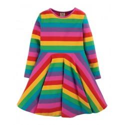 """frugi - Bio Kinder Jersey Kleid """"Sofia"""" Regenbogen"""